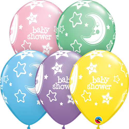 Baby shower latex balloons family