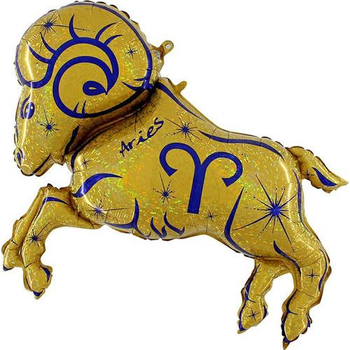 49 inch Gold Aries Zodiac Foil Balloon (1)