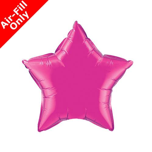 Pink Star Balloon 20 INCH Magenta Star Balloon Foil Star Fuchsia Star Balloon 20 Metallic Fuchsia Star Foil Magenta Star Balloon