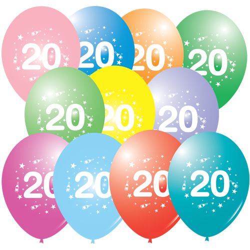 20th Birthday Balloons  Milestone Printed Latex  wwwballoonmarketcouk - Bday Party Decorations At Home