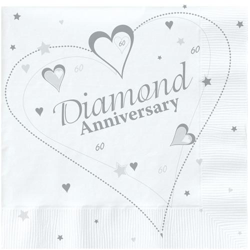 Diamond Anniversary Paper Napkins (18) [PC037DI ...