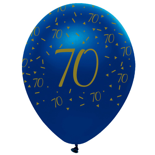 Amscan Rainbow Happy 70th Birthday Clear Orbz Foil Balloon