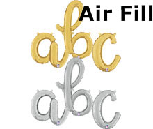 Air-Fill Script Letters