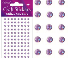 Glitter Gem Craft Stickers