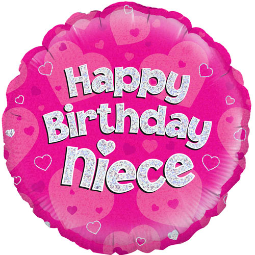 18 Inch Happy Birthday Niece Foil Balloon (1) 18 Inch