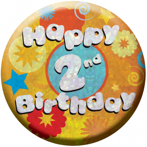 Happy 2nd Birthday Badge 1