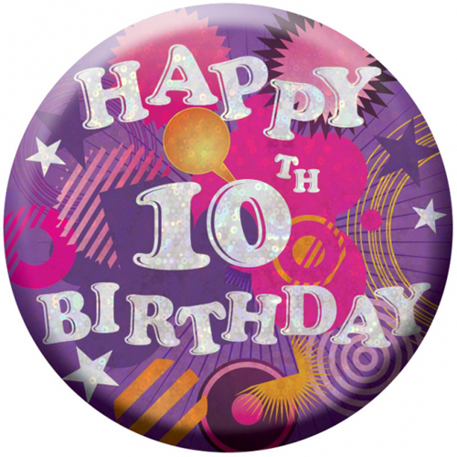 Happy 10th Birthday Badge 1 INT996635 Wholesale Balloons And