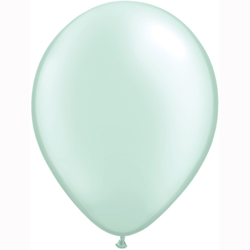11 inch pastel pearl mint green latex balloons balloon Very light mint green paint