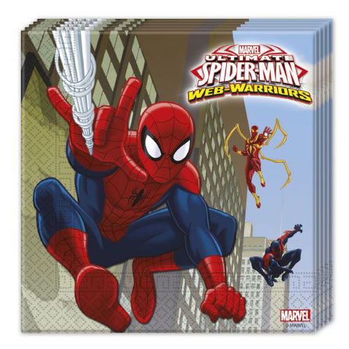 Ultimate Backyard Warrior : Ultimate Spider Man Web Warriors Paper Napkins (20) [851548